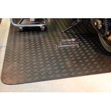 Autoguard 5' x 7' Rubber Garage Protection Mat in Black