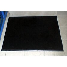 "Brush Klean 32"" x 39"" Black Rubber Entrance Mat"