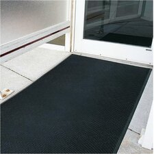 "Brush Klean 36"" x 72"" Black Rubber Entrance Mat"