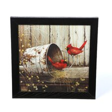 Cardinals by John Rossin Framed Photographic Print