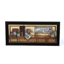 Country Kitchen Shelf by Mary Ann June Framed Graphic Art
