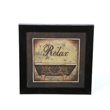 Relax by Michele Deaton Framed Graphic Art