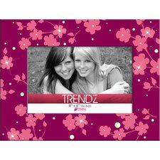 Trendz Floral Glass Tabletop Photo Frame