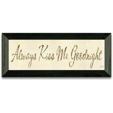 Kiss Me Goodnight Art Print Wall Art