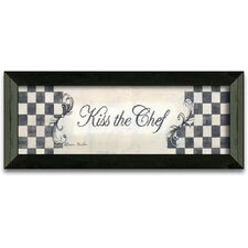 Kiss the Chef Art Print Wall Art