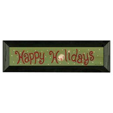 Happy Holiday Textual Art
