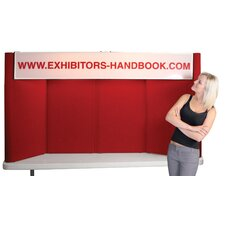 <strong>Orbus Inc.</strong> Hero H08 Tabletop Folding Display Panel with Backlit Header and Curved Edges
