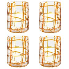Abstract Rock Old Fashioned Glass (Set of 4)