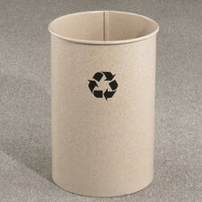 RecyclePro Single Stream Open Top 7 Gallon Recycling Waste Basket