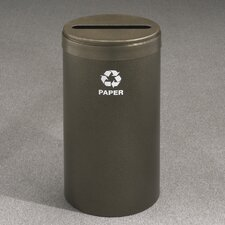 RecyclePro Value Series Single Unit Stream 23 Gallon Industrial Recyling Bin