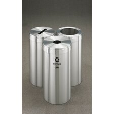 RecyclePro Value Series Triple Unit 45 Gallon Multi Compartment Recycling Bin