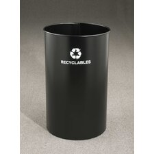 RecyclePro Single Stream Open Top 36 Gallon Industrial Recycling Bin