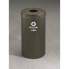 RecyclePro Value Series Single Stream 15 Gallon Industrial Recycling Bin
