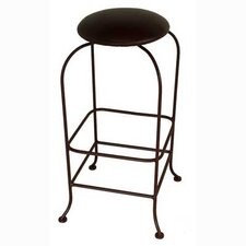 "24"" Backless Swivel Metal Barstool"