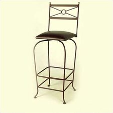 "30"" Upholstered Flourish Bar Stool w/ Swivel"