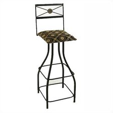 "<strong>Grace Collection</strong> Tall Neoclassic 36"" Swivel Stool"