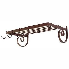<strong>Grace Collection</strong> Wall Mount Shelf Pot Rack