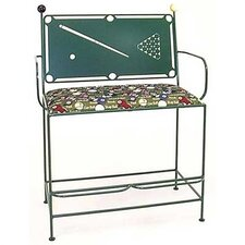 <strong>Grace Collection</strong> Pool Table Spectator Metal Bench
