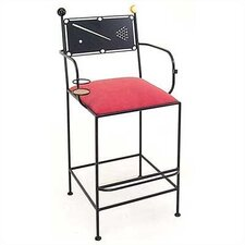 Pool Table Billiards Barstool w/ Arms