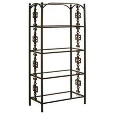 "<strong>Grace Collection</strong> 79"" H Gothic Gate Etagere"