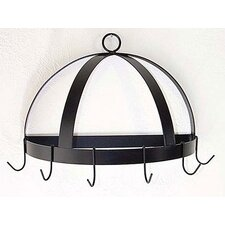 Half Dome Wall Mounted Pot Rack