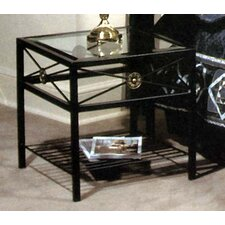 <strong>Grace Collection</strong> Neoclassic Glass End Table