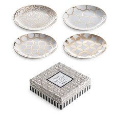 "Luxe Moderne 7.25"" Appetizer Plate (Set of 4)"