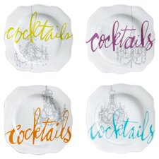 "6.75"" Cocktails Appetizer Plate (Set of 4)"