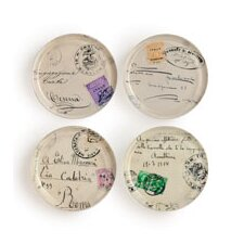 European Souvenir Italian Postcards Coasters (Set of 4)