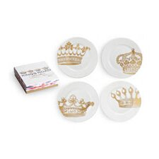 Kings Road Redux Dessert Plates (Set of 4)