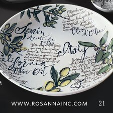 "Olive Oil 13"" Serving Bowl"