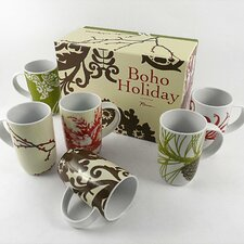 Boho Barrel 10 oz Mug (Set of 6)