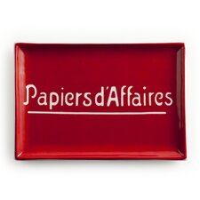 Voyage Papiers D'Affaires Rectangular Serving Tray
