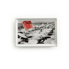 Voyage Italy Postcard Rectangular Serving Tray