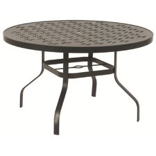 Patterned Round Dining Table with Hole