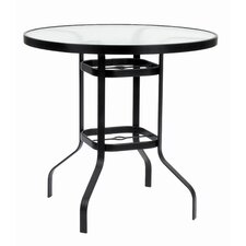 <strong>Suncoast</strong> KD Round Glass Bar Height Table with Hole