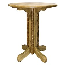 Glacier Country Pub Table with Optional Stools