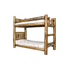 <strong>Montana Woodworks®</strong> Glacier Country Twin over Twin Bunk Bed with Built-In Ladder
