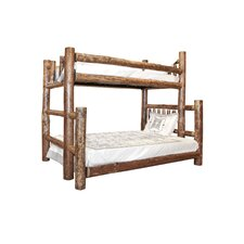 <strong>Montana Woodworks®</strong> Glacier Country Twin over Full Bunk Bed with Built-In Ladder