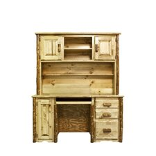 Glacier Country Desk with Hutch