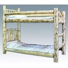 Montana Twin over Twin Bunk Bed with Built-In Ladder