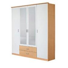 <strong>Rauch</strong> Baggio 2 Drawer Mirrored Combination Wardrobe with 4 Doors