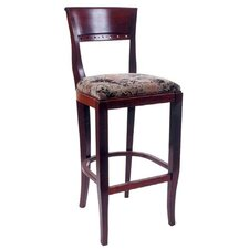 Biedermier Bar Stool with Cushion (Set of 2)