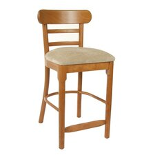 "Luci 24"" Bar Stool with Cushion"