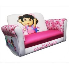 <strong>Harmony Kids</strong> Nickelodeon Dora the Explorer Deluxe Rocking Sofa