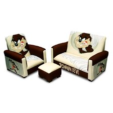 "Warner Brothers ""TAZ"" Tasmanian Devil Toddler Sofa, Chair and Ottoman Set"