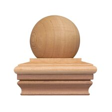 "<strong>Terratec</strong> 4"" x 4"" Ball Cap Western Red Cedar Post Cap"
