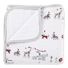 Classic Vintage Circus Dream Cotton Blanket
