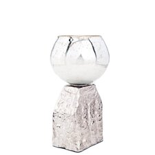 Costa Brava Aluminum/Glass T- Candle Holder