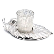 Costa Brava Aluminum/Glass Votive Candle Holder
